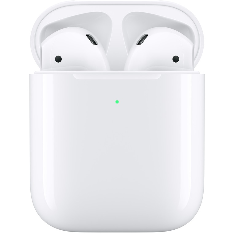 Fotografie Casti Apple AirPods 2, Carcasa cu incarcare wireless, White