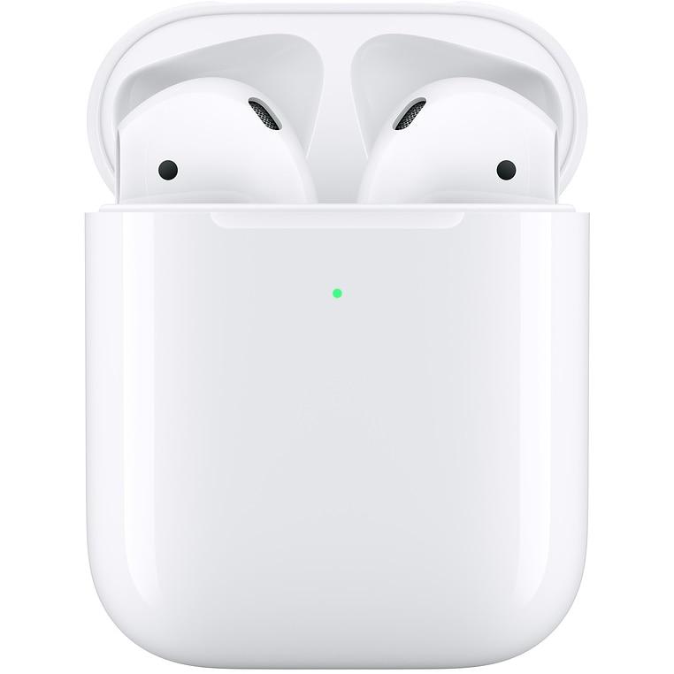 Fotografie Casti Apple AirPods 2, Carcasa cu incarcare wireless, White