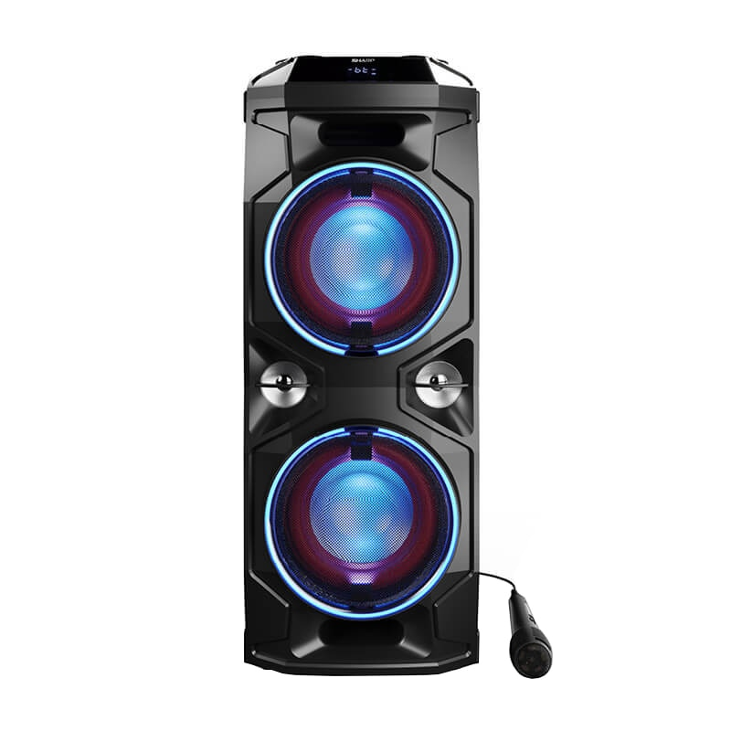 Fotografie Sistem audio Sharp PS-940, 180W, Bluetooth, DJ controller and Mixer, Super Bass Effect, Party LED