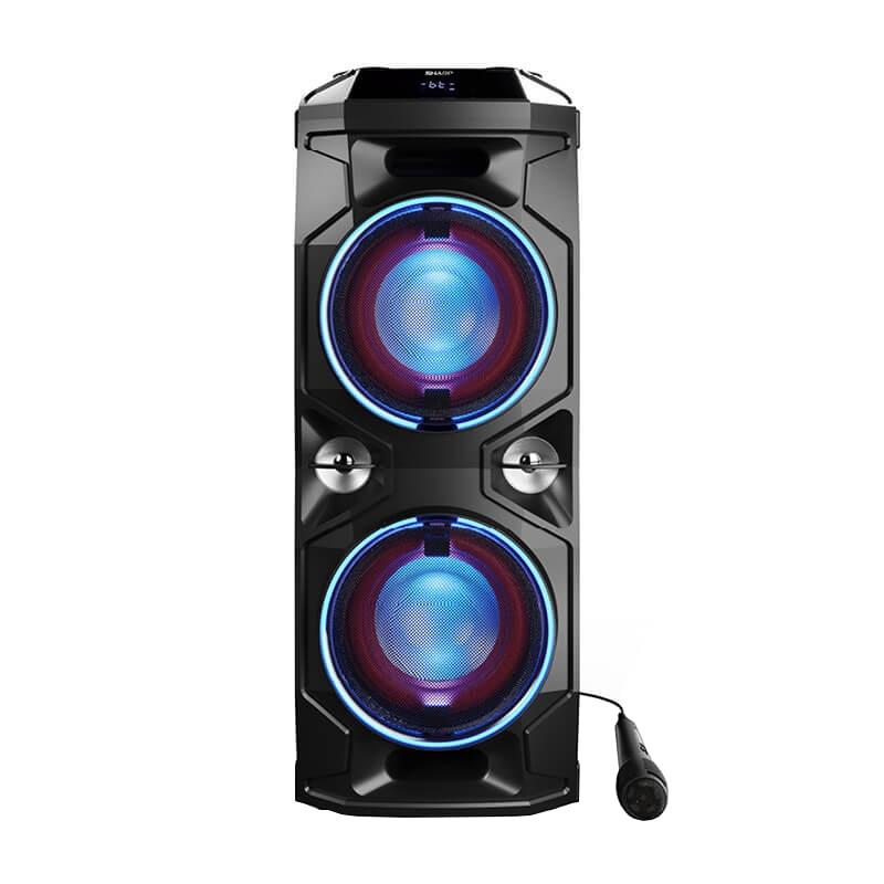Fotografie Sistem audio Sharp PS-940, 180W, Bluetooth, DJ controller and Mixer, Super Bass Effect, Party LED