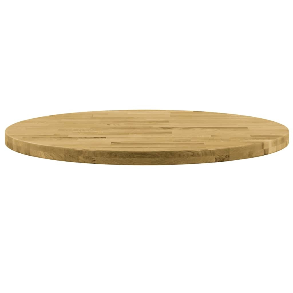 vidaXL kerek tömör tölgyfa asztallap 44 mm 600 mm eMAG.hu