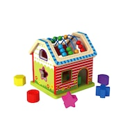 Къща за активности Tooky Toy TKC510, Образователни играчки, Дърво, Многоцветен, 18 месеца +