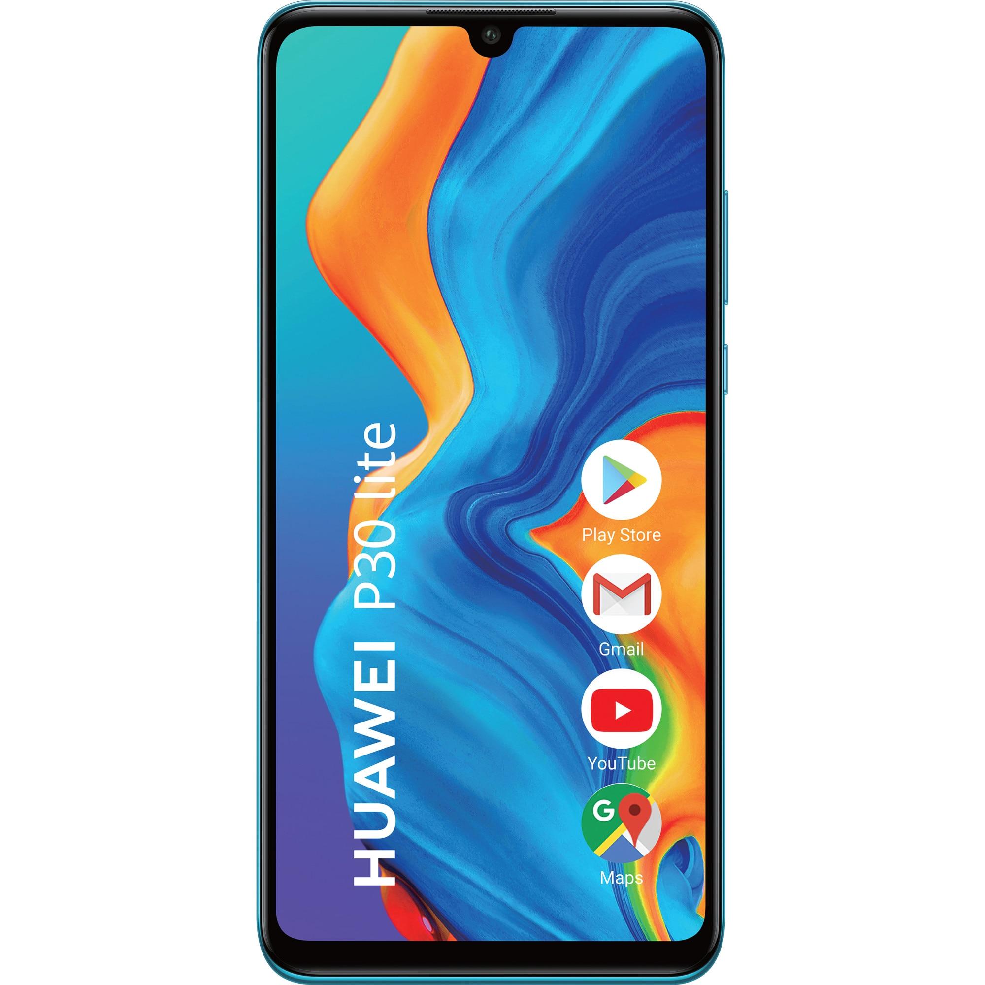Fotografie Telefon mobil Huawei P30 Lite, Dual SIM, 128GB, 4G, Peacock Blue