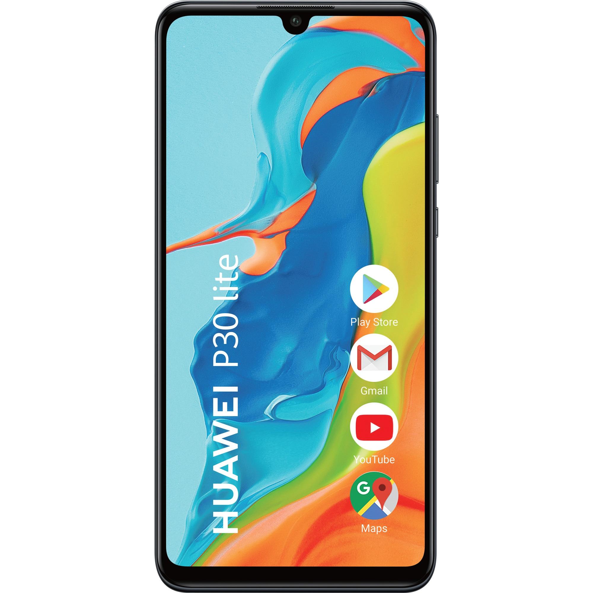Fotografie Telefon mobil Huawei P30 Lite, Dual SIM, 128GB, 4G, Midnight Black