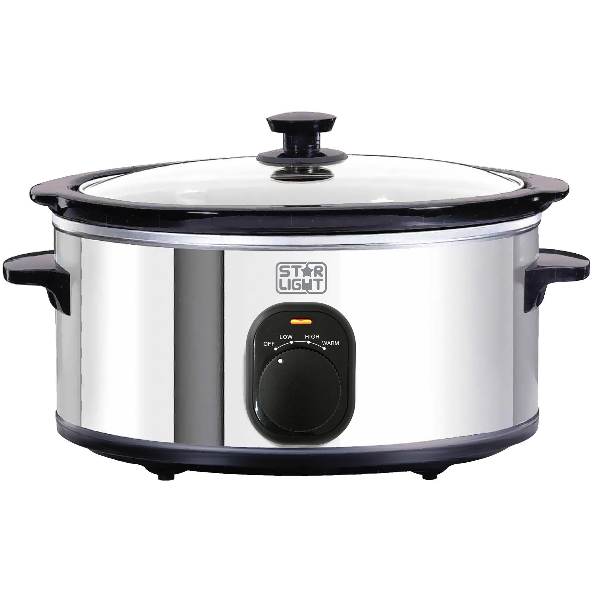 Fotografie Slow cooker Star-Light SCB-524SS, 4.5l, 240W, Vas ceramica detasabil, Functie de pastrare la cald, Inox