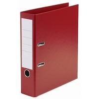 Biblioraft Plastifiat Rosu, Cotor de 55 mm pentru Arhivarea Documentelor