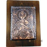 Медна икона Свети Панталеймон, Oreshak, медна ламарина, 26х20