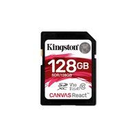 Kingston memóriakártya sdxc 128gb cl10 UHS-1 u3 v30 a1 canvas react (100/80)