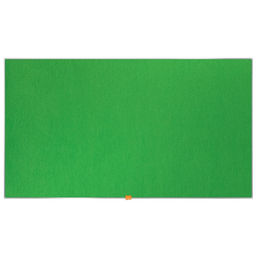 "Fotografie Panou NOBO Widescreen 55"" 69,8 x 122,9 cm din material textil, Verde"