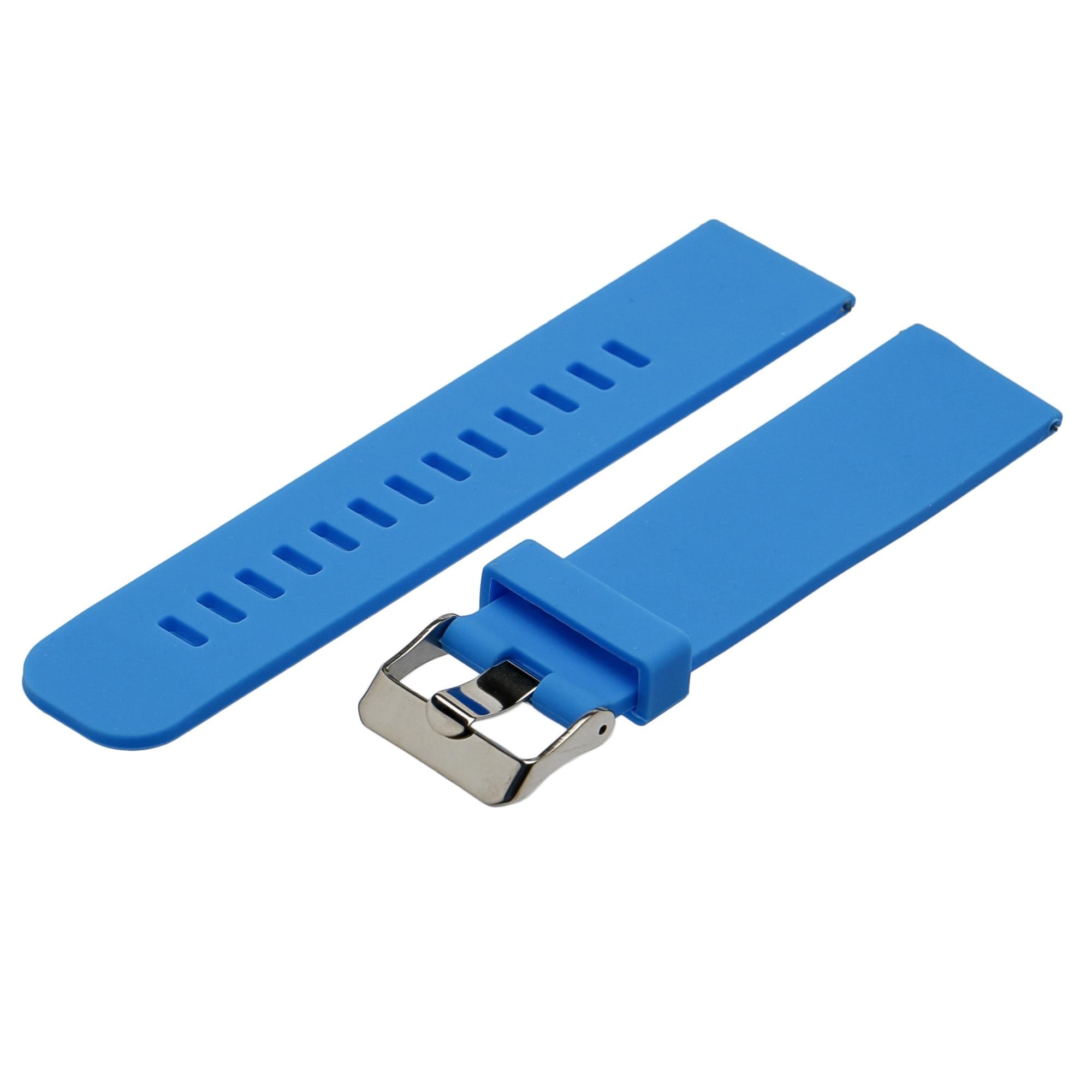 Fotografie Curea Ceas Smartwatch Silicon Universal ( Samsung, Garmin) - 22mm, Albastru