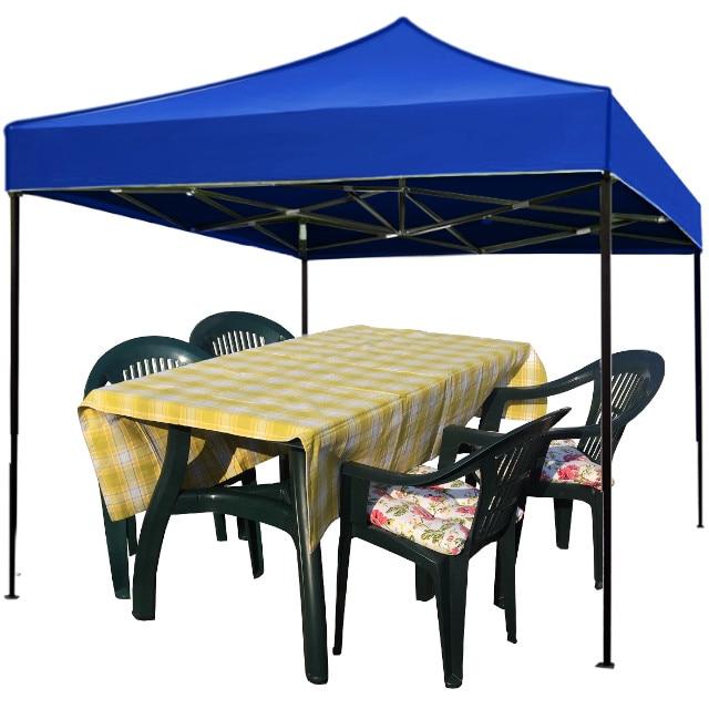Culinaro zászló összecsukható sátor 3x3m kék vízálló acél