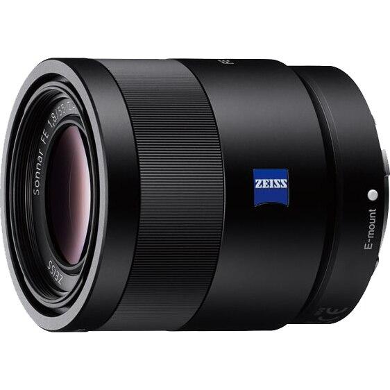 Fotografie Obiectiv Sony Sonnar T*, montura FE, 55 mm, F1.8 ZA, Negru