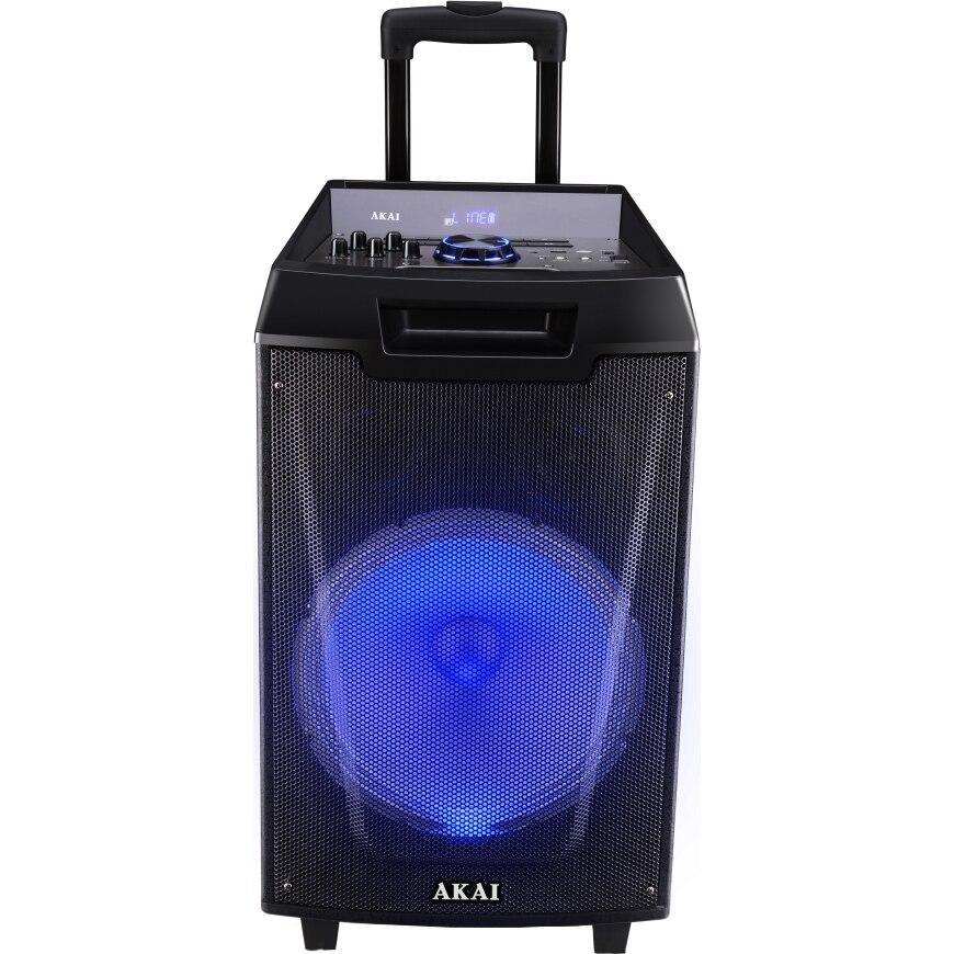 Fotografie Boxa portabila Akai ABTS-AW12 cu BT, lumini disco, functie inregistrare, microfon