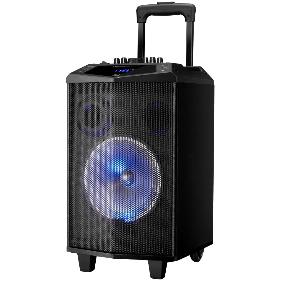Fotografie Boxa portabila Akai ABTS-DK15 cu BT, lumini disco, functie inregistrare, microfon