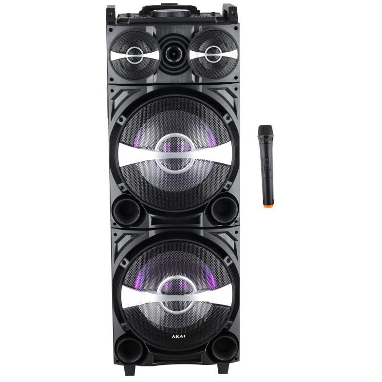 Fotografie Boxa activa portabila Akai DJ-222 cu BT, Efect DJ, baterie, Trolley