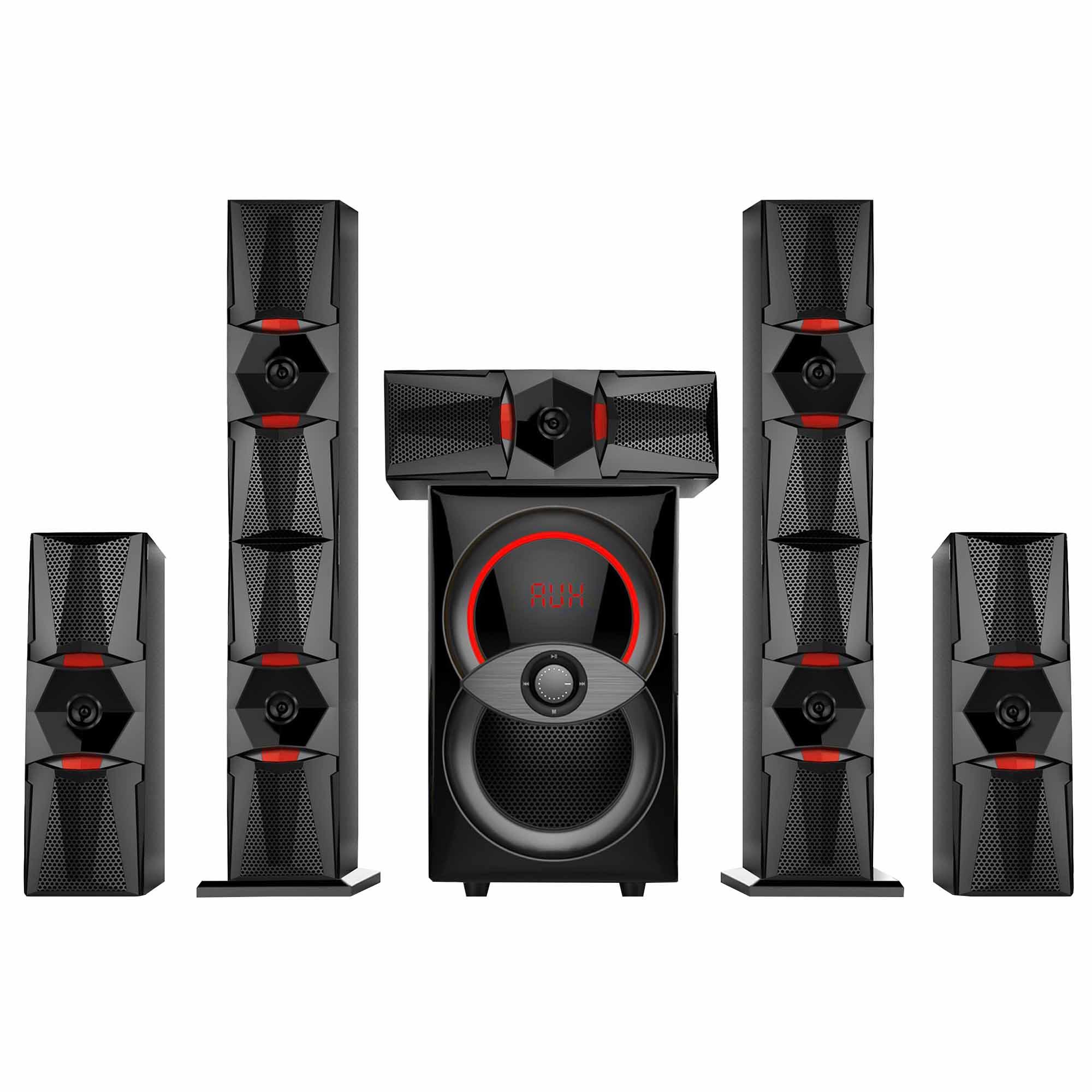 Fotografie Sistem boxe multimedia 5.1 Akai SS050A-6212H cu BT, USB, SD, MMC, Radio FM