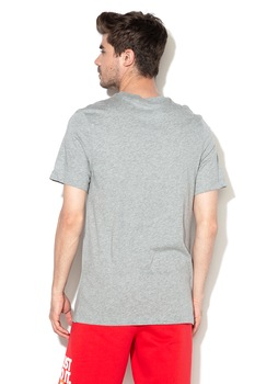 Nike, Tricou de bumbac Icon Futura, Gri melange