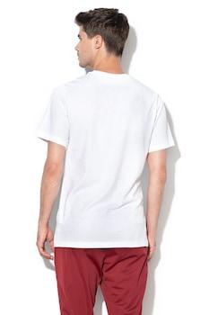 Nike, Tricou de bumbac Icon Futura, Alb/Negru