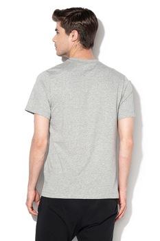 Nike, Tricou cu logo si decolteu la baza gatului JDI, Gri/Negru