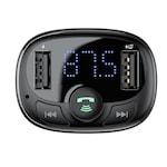 Baseus Bluetooth kihangosító - FM Transzmitter MP3 lejátszó - 3.4A autós töltő - fekete