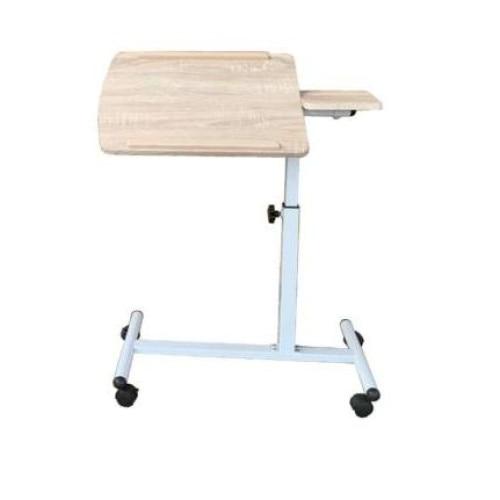 Ikoni gurulós laptop asztal dönthetőállítható fehér tölgy
