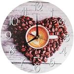Konyhai kávés falióra - Love Coffee