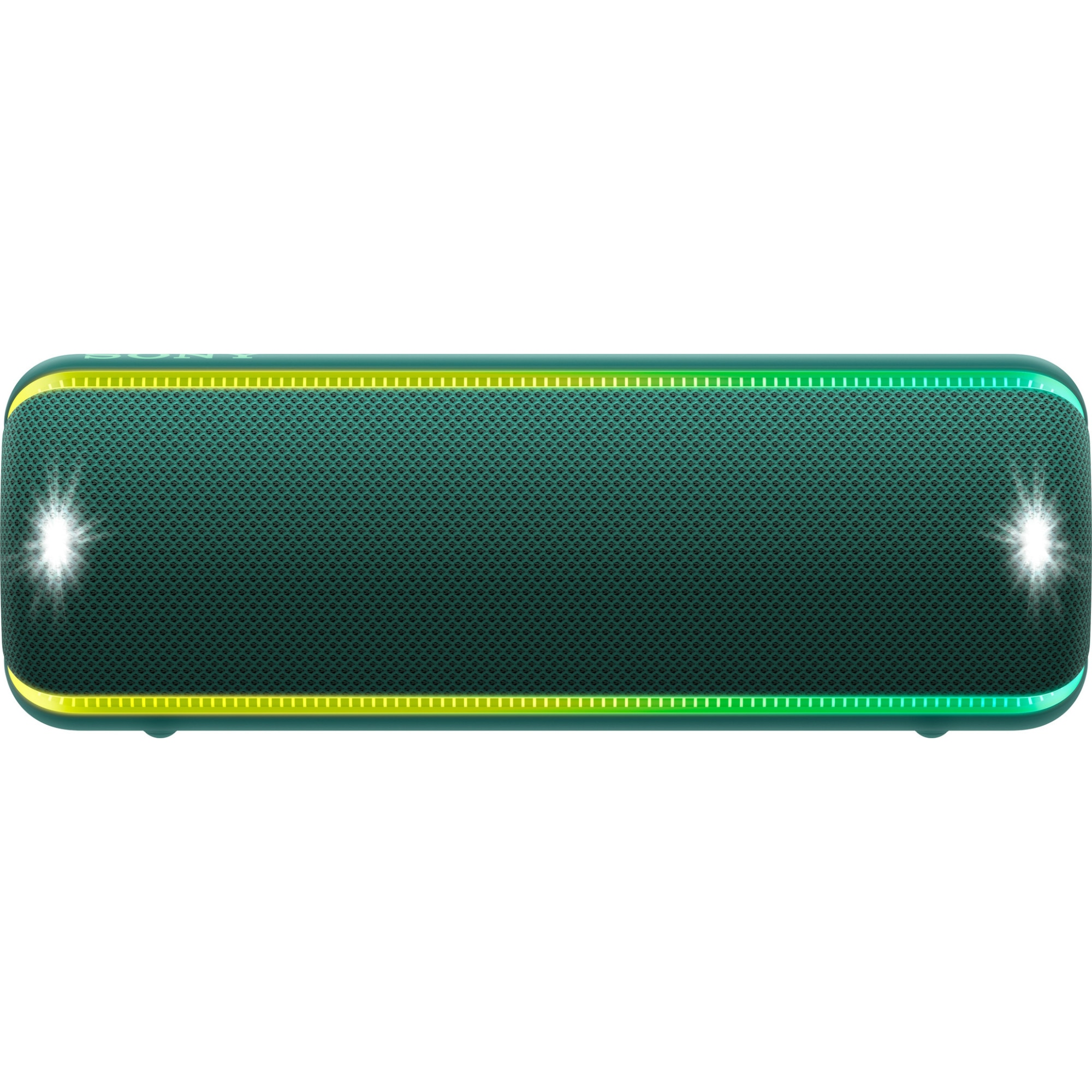 Fotografie Boxa portabila Sony SRS-XB32G, Extra Bass, LIVE SOUND, Fiestable, Wireless Party Chain, Party Booster, Efect de lumini, Rezistenta la apa IP67, Bluetooth 4.2, NFC, Autonomie 24 ore, USB cu functie de incarcare, Verde