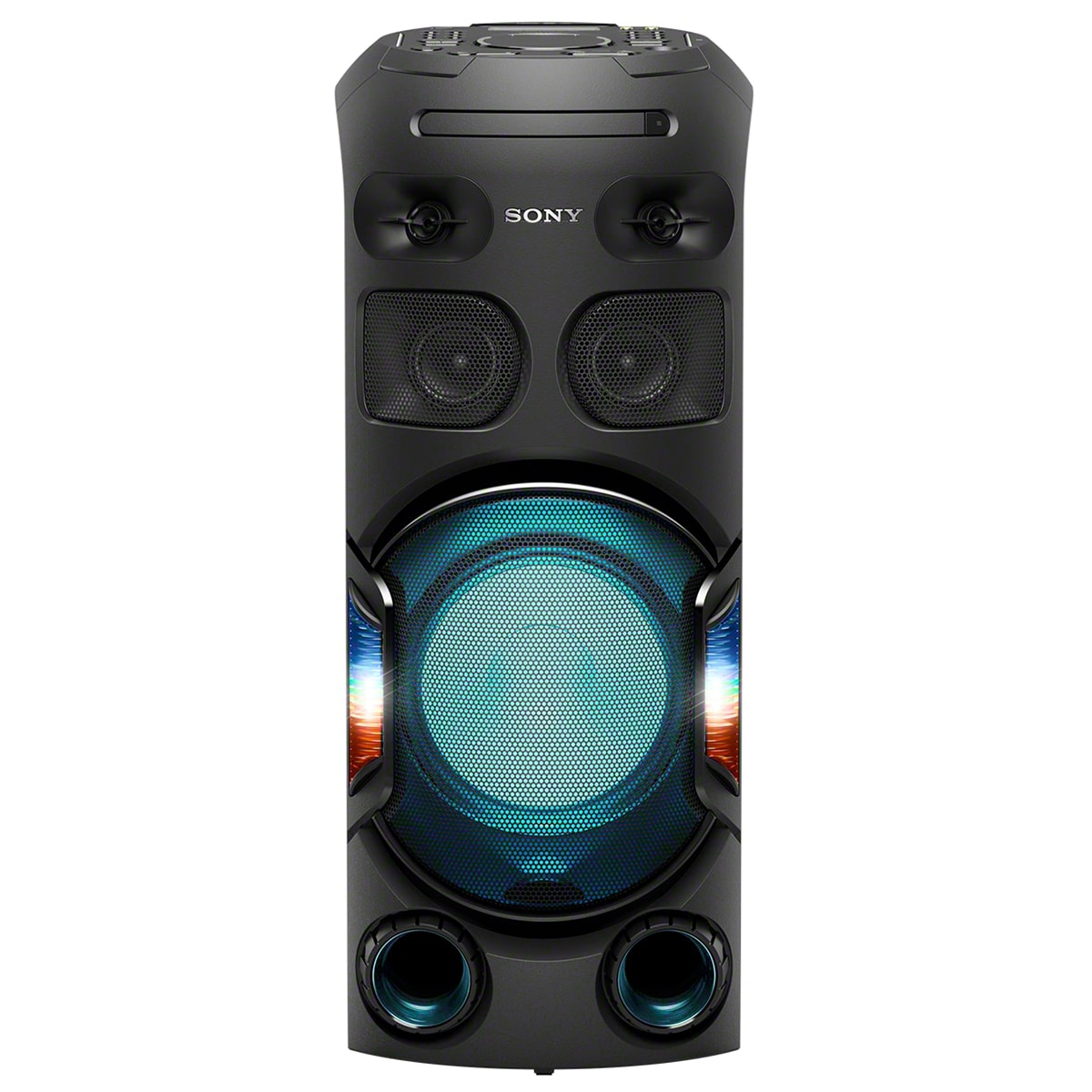 Fotografie Sistem audio High Power SONY MHC-V42D, Jet Bass Booster, Hi-Fi, Bluetooth, NFC, Dj Effects, USB, DVD, Party music, Party lights, Negru