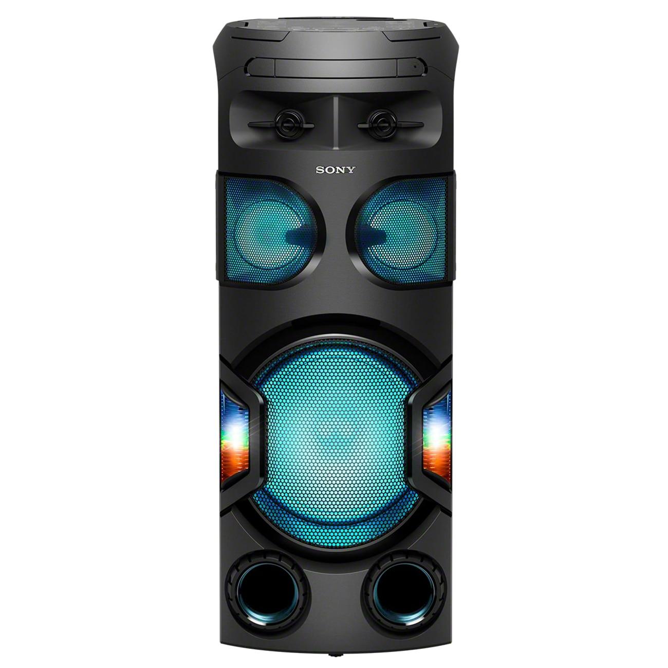 Fotografie Sistem audio High Power SONY MHC-V72D, Jet Bass Booster, Sunet 360 grade, Hi-Fi, Bluetooth, NFC, Dj Effects, USB, DVD, Party music, Party lights, Negru