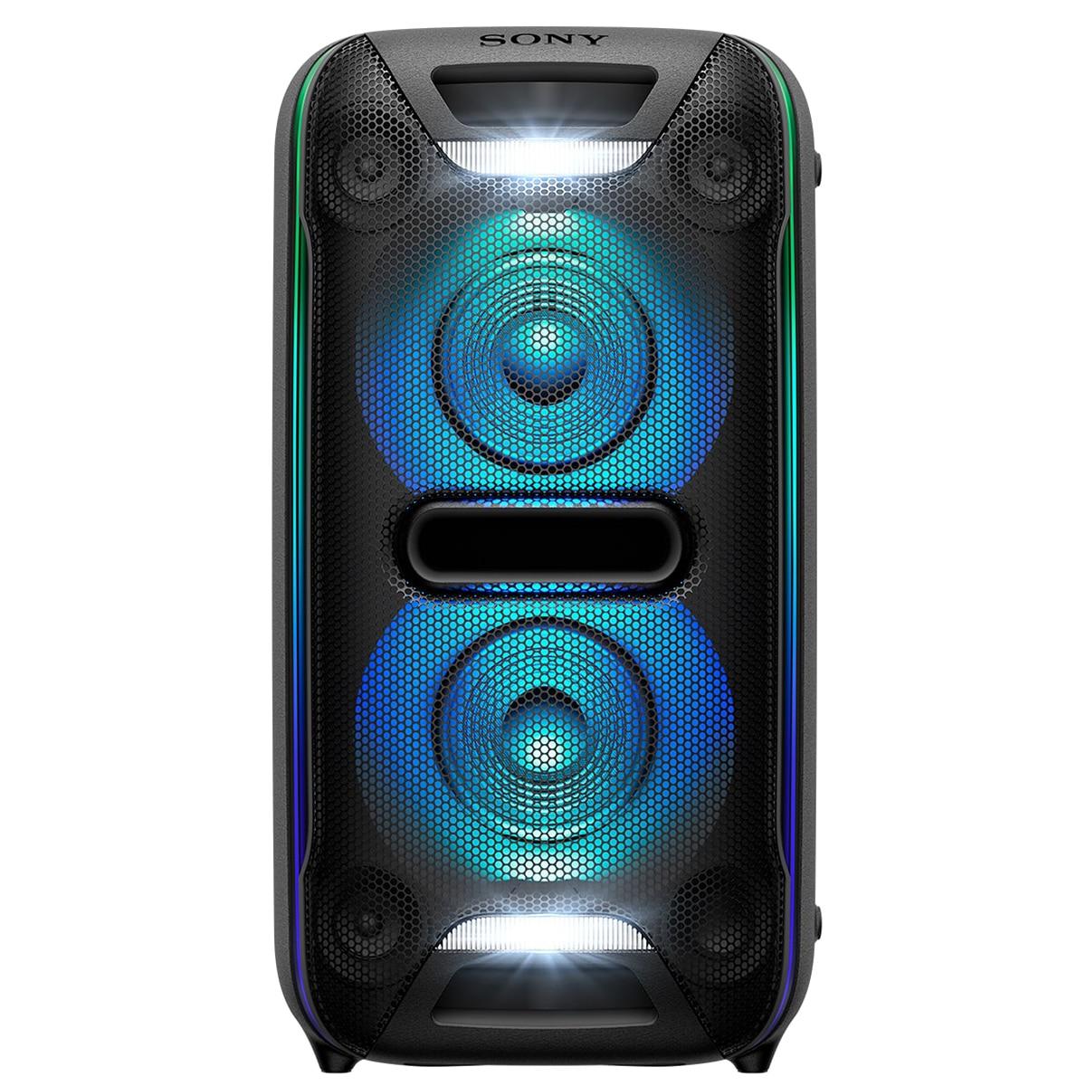 Fotografie Sistem audio High Power Sony GTKXB72, Hi-Fi, Extra Bass, Bluetooth, NFC, Wireless Party Chain, Party Light, Microfon, USB, Negru