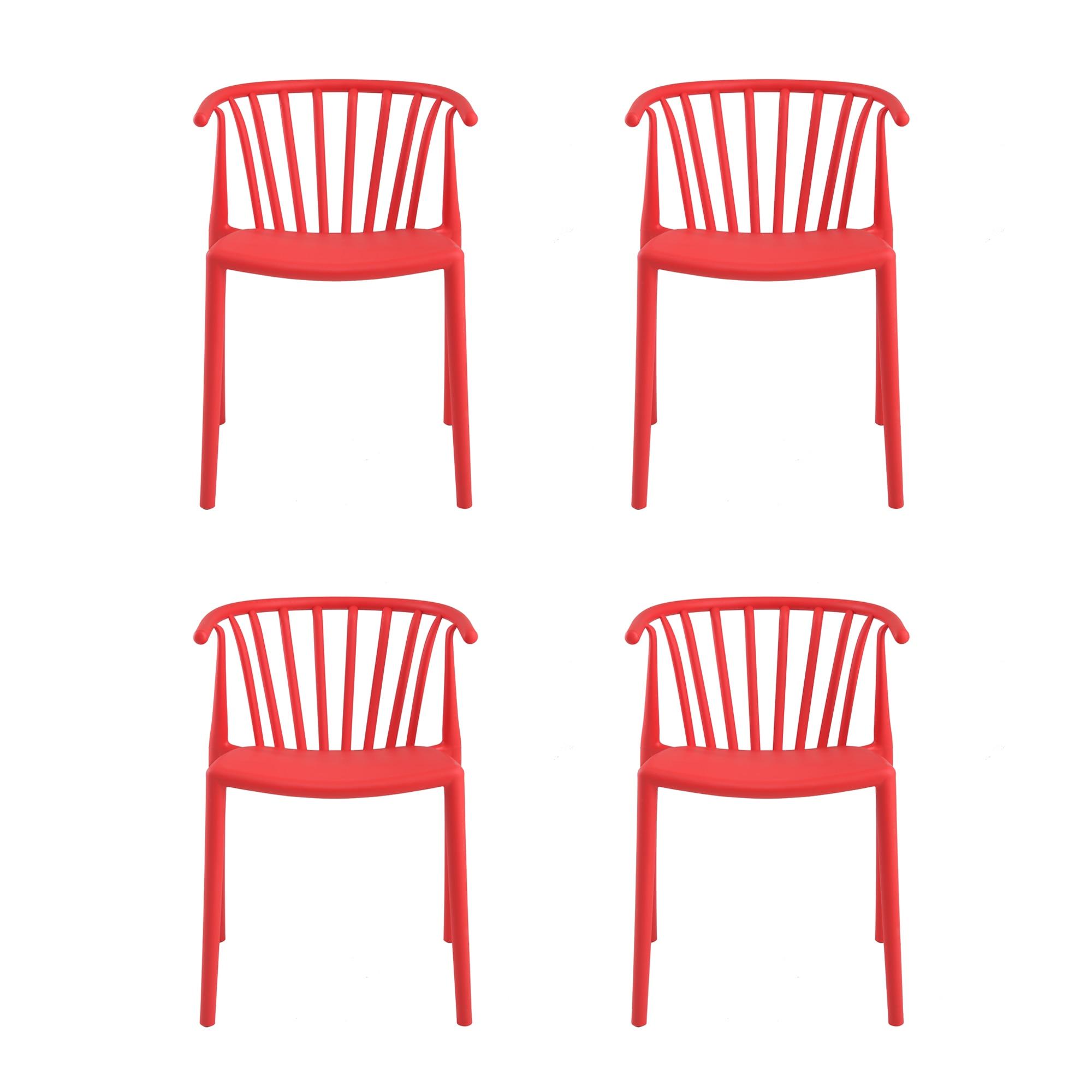 Fotografie Set 4 scaune Carlo Heinner Home, plastic, Rosu