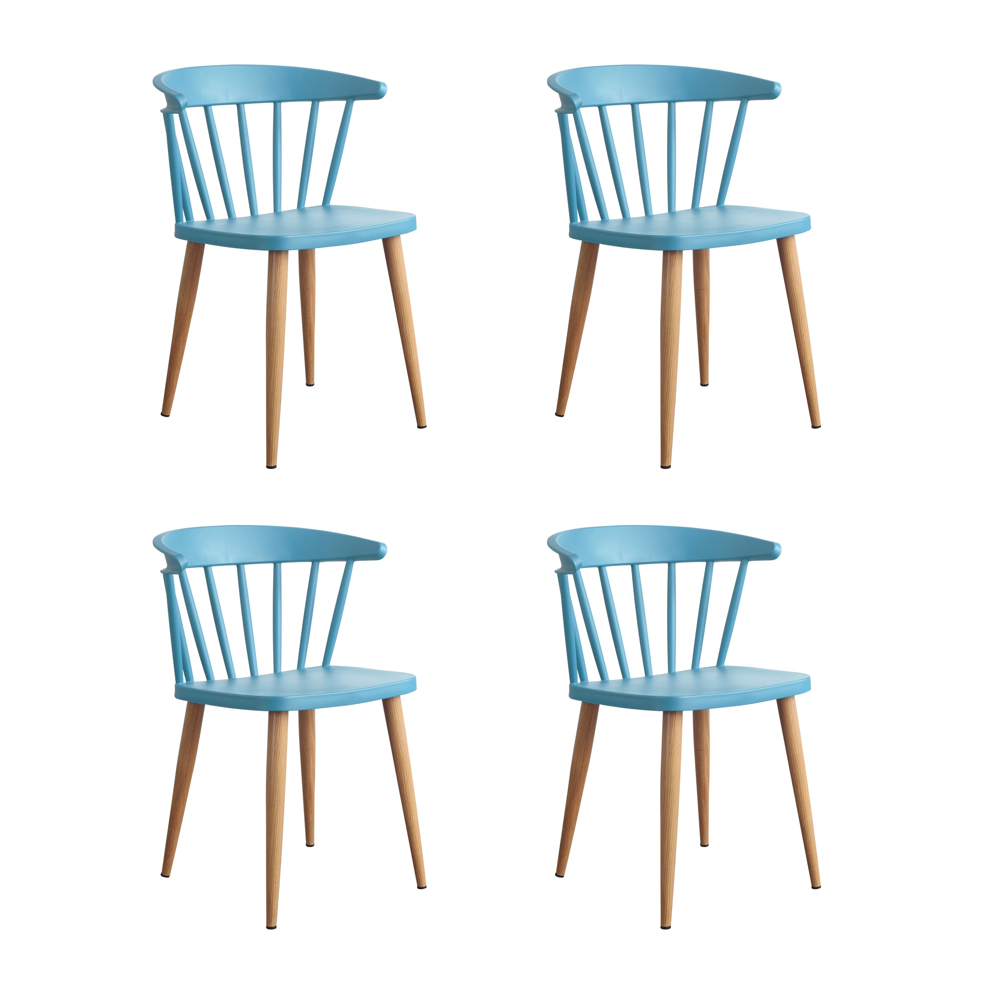 Fotografie Set 4 scaune Sunny Heinner Home, plastic, Albastru