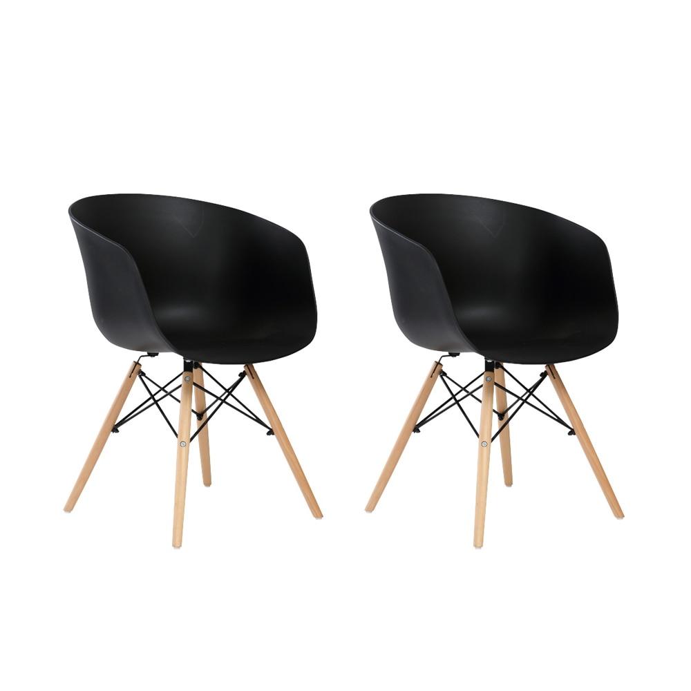 Fotografie Set 2 scaune Living Berta Heinner Home, Negru