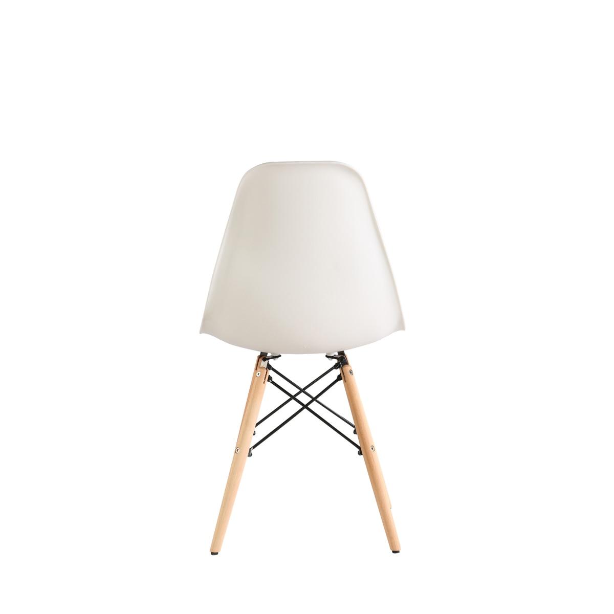 Heinner Home Truly szék, 4 darab, Műanyag ülés, Fa lábak, Fehér eMAG.hu