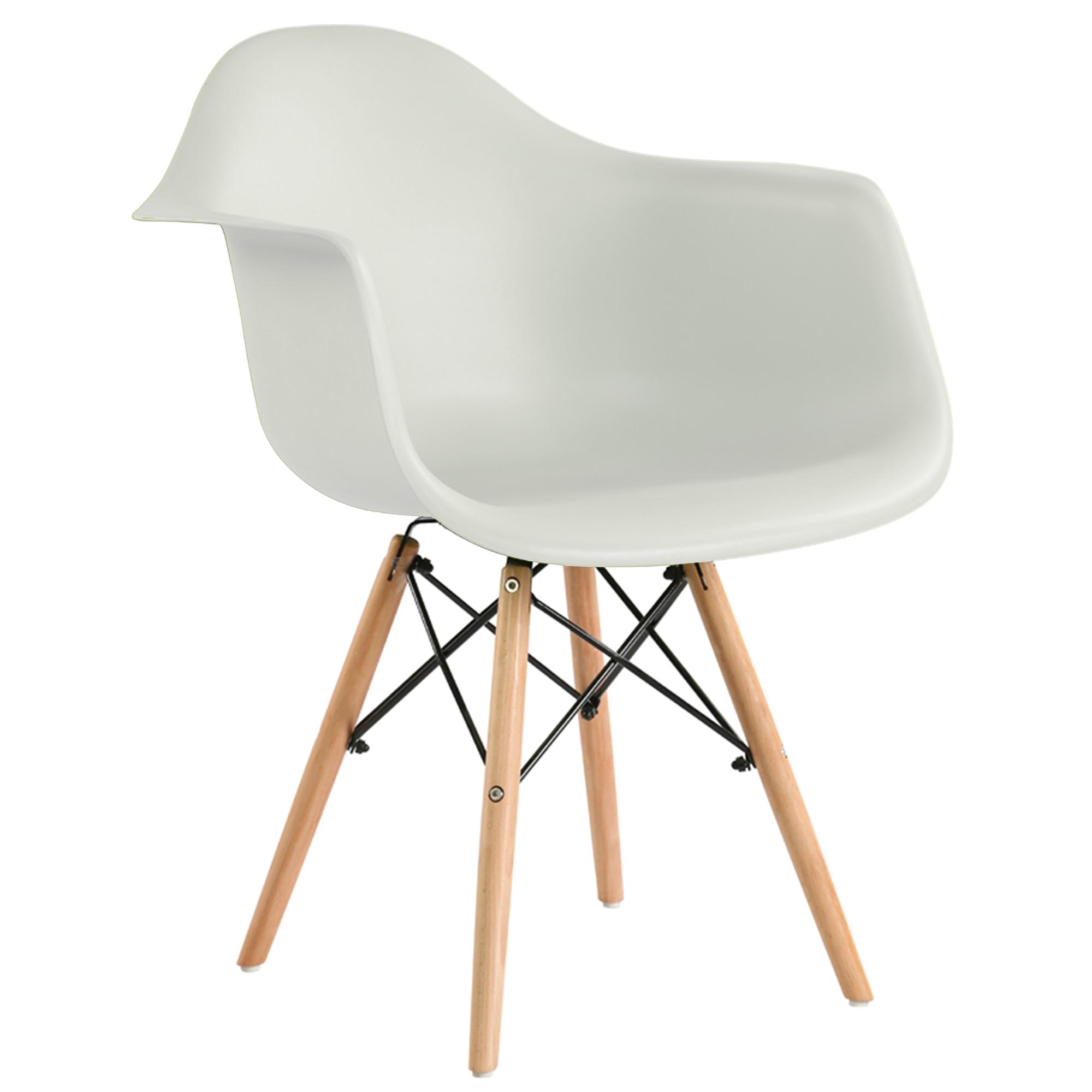 Heinner Home Cosy szék, 4 darab, Műanyag ülés, Fa lábak, Fehér