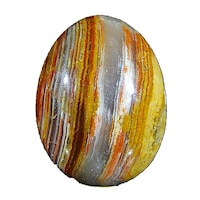 Яйце от полускъпоценни камъни Minerals Rainbow, Оникс 1, 4,8/3,6 см