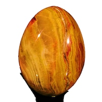 Яйце от полускъпоценни камъни Minerals Rainbow, Оникс 3 7,2/5,1 см