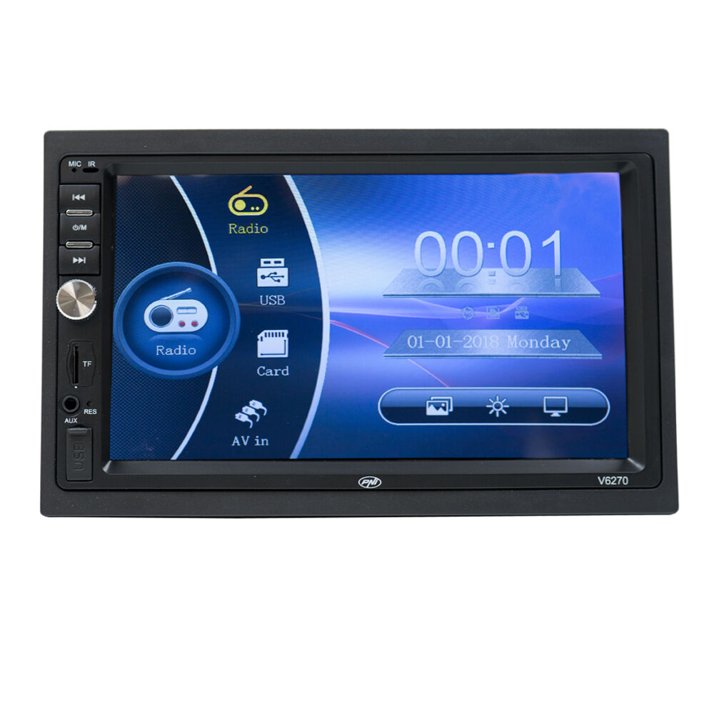 Fotografie Multimedia player auto PNI V6270, reda MP3 / MP4 / MP5, touchscreen bluetooth, USB, 2 DIN cu mirror link IOS si Android