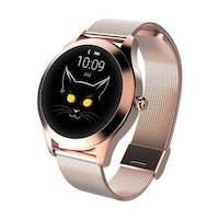 Дамски Смарт часовник Kingwear Vektros KW10, Крачки, Мониторинг на съня, Луксозна каишка