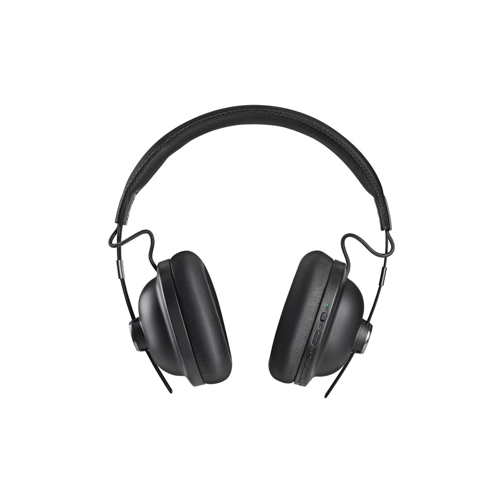 Fotografie Casti Bluetooth over head Noise Cancelling Panasonic RP-HTX90NE-K, sunet de inalta calitate cu magnet neodinium de 40mm, microfon incorporat, voce control, autonomie baterie 20 ore, incarcare rapida, design retro, negru