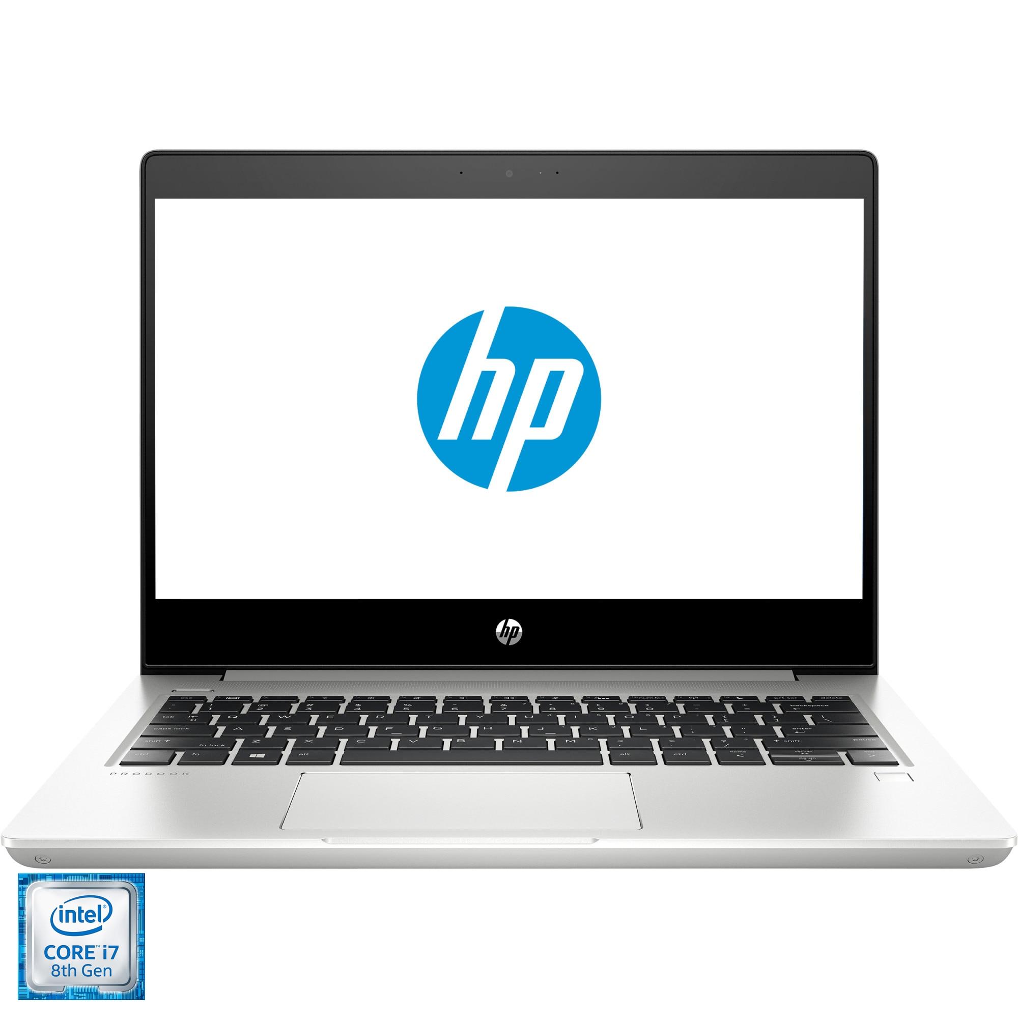 "Fotografie Laptop ultraportabil HP ProBook 430 G6 cu procesor Intel® Core™ i7-8565U pana 4.60 GHz, Whiskey Lake, 13.3"", Full HD, 8GB, 256GB SSD, Intel® UHD Graphics 620, Free DOS, Silver"