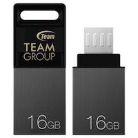 USB памет 16GB Team Group M151, черен/сребрист, Micro USB TEAM-OTG-M151