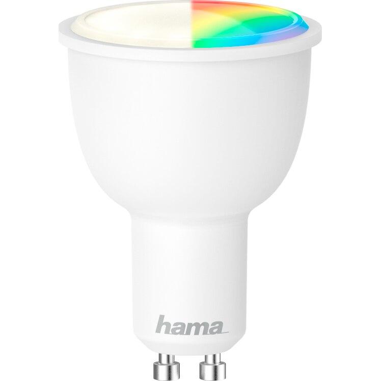 Fotografie Bec inteligent Hama, Wi-Fi, LED, GU10, 4.5W, RGB