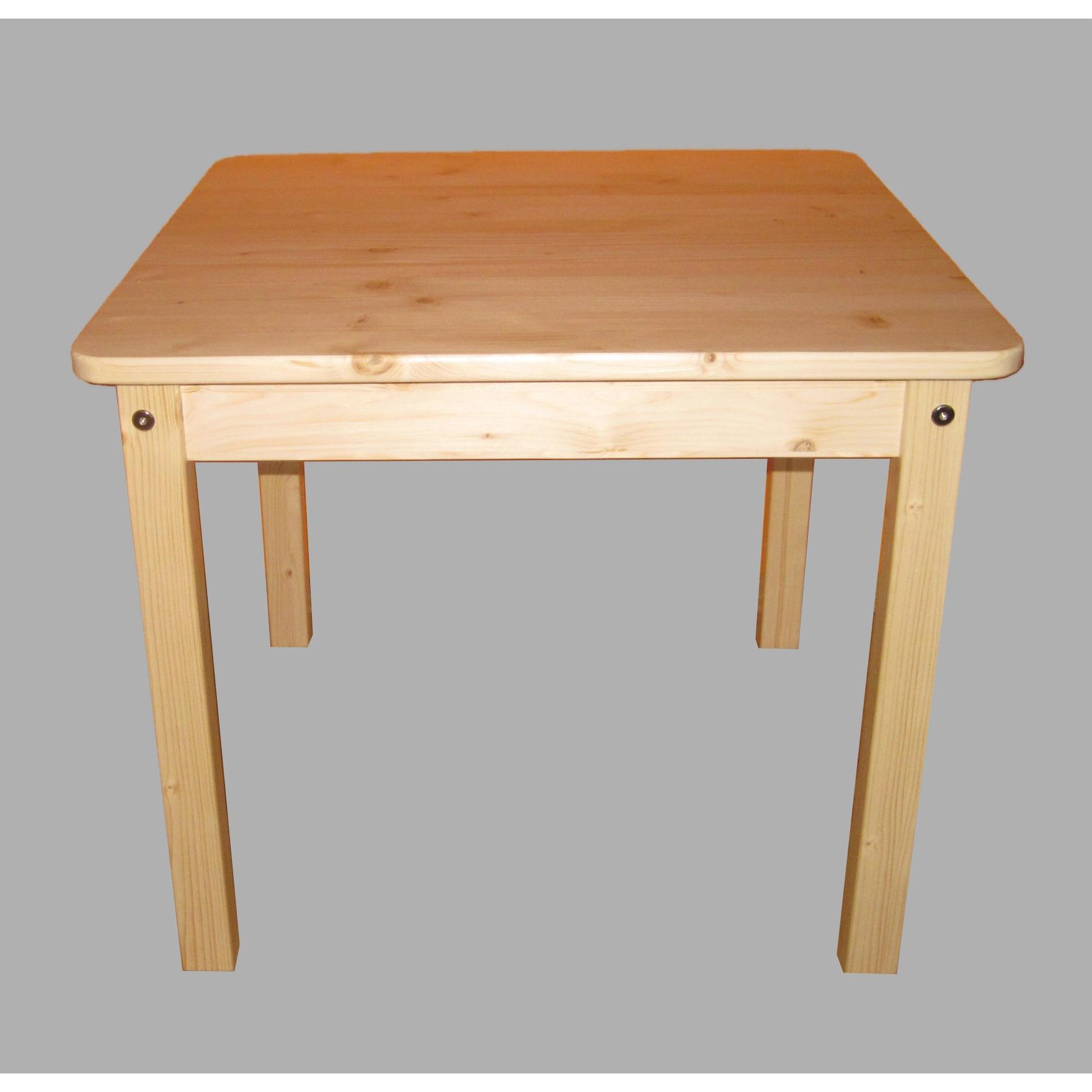 natur fenyő asztal székekkel