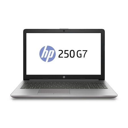 Лаптоп HP 250 G7 с Intel Core i3-1005G1 (1.2/3.4 GHz, 4M), 8 GB, 500GB M.2 NVMe SSD, Intel UHD Graphics, Free DOS, сребрист