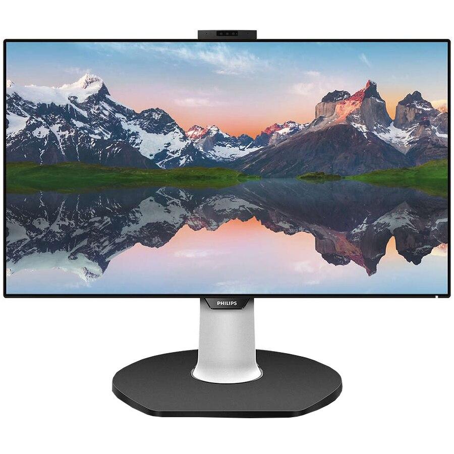 """Fotografie Monitor LED IPS Philips 31.5"""", 4K UHD, USB-C, Docking station, Webcam, 10 Bits, Display Port, Negru"""
