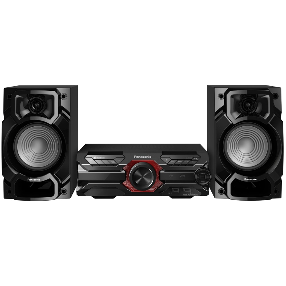 Fotografie Microsistem audio High Power Panasonic SC-AKX320E-K, 450 W RMS, Dual USB, Bluetooth, Max Juke App., Subwoofer 16cm