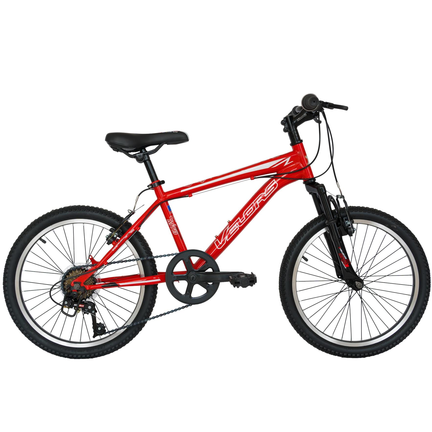 "Fotografie Bicicleta Velors MTB 20"" V2010A, Rosu/Alb"