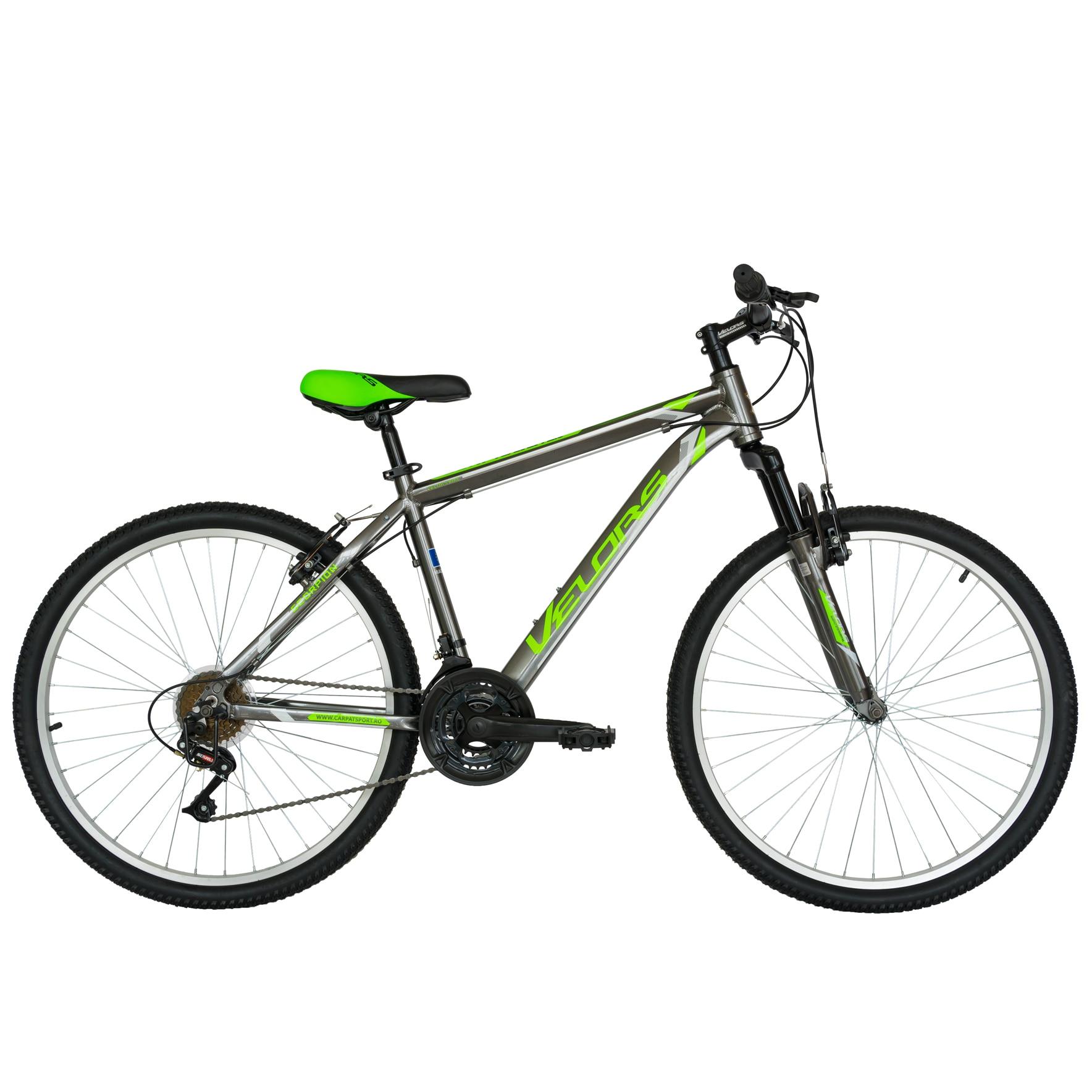 """Fotografie Bicicleta Velors MTB Al 26"""" V2671A, Gri/Verde"""