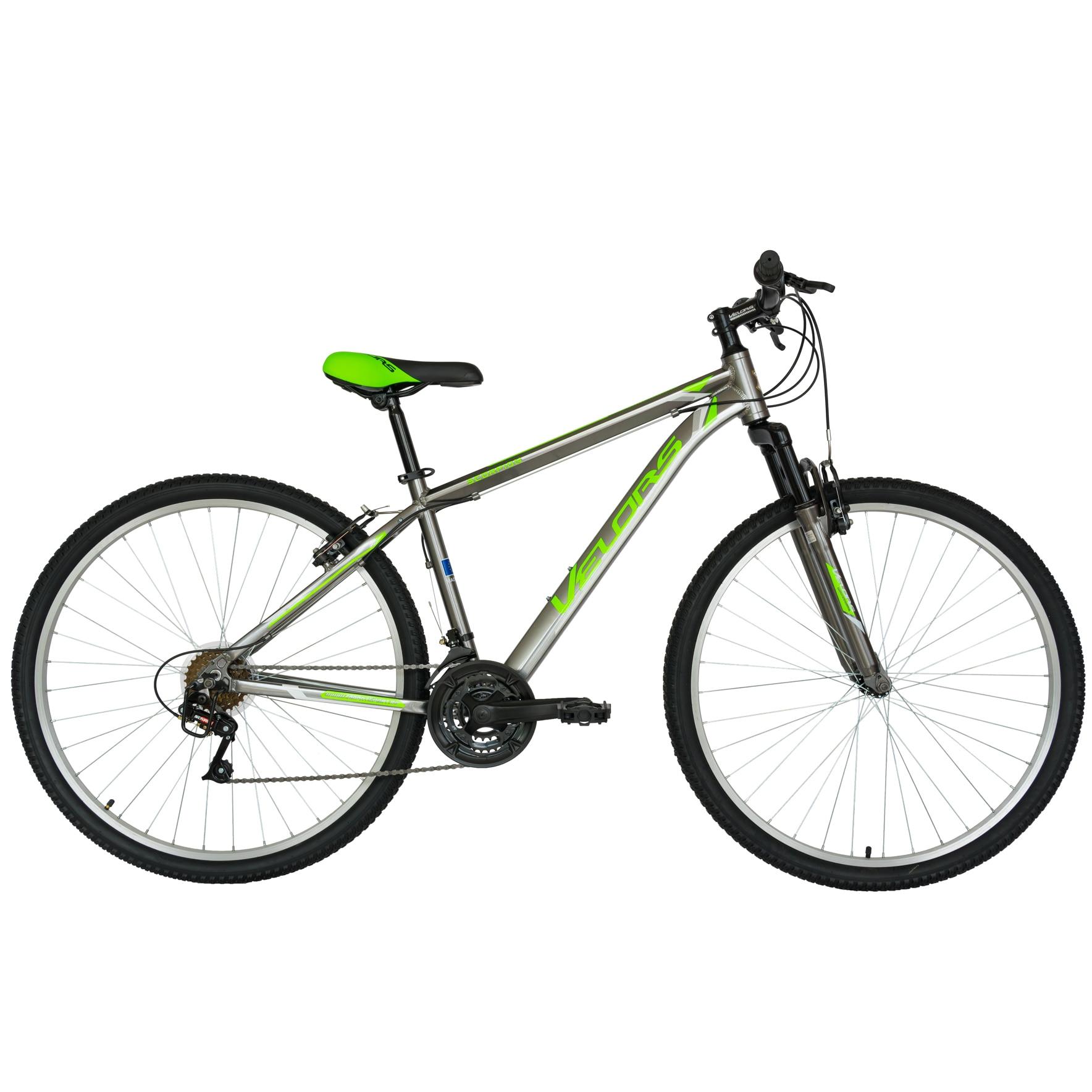 """Fotografie Bicicleta Velors MTB Al 29"""" V2971A, Gri/Verde"""